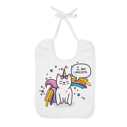Bavoir Cat Unicorn