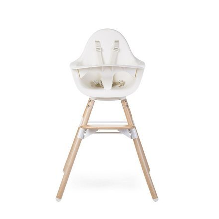 Chaise haute Evolu One .80° Naturel & Blanc