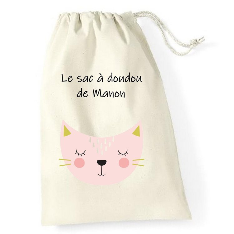 Sac à doudou Pink Cat